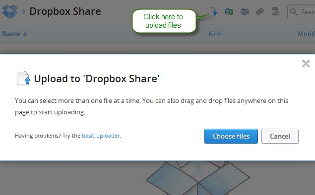 Drag and drop to upload files